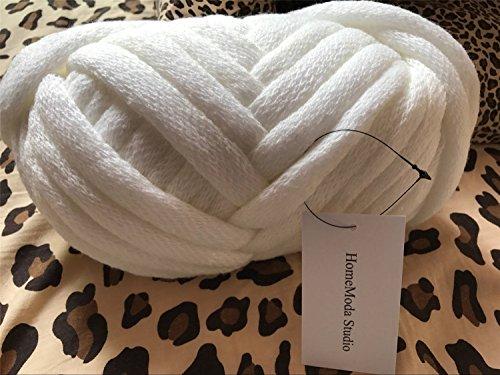 HomeModa Studio Washable Chunky Knit Yarn Chunky Knit Yarn, Chunky Knit Yarn, Arm Knit, Arm Knitting, Giant Bulky Knit (white, 1.1 lbs) price tips cheap