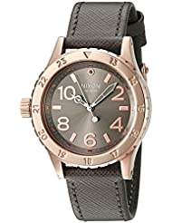 Nixon Womens A4672214-00 38-20 Analog Quartz Rose Gold/Taupe Watch with Leather Band