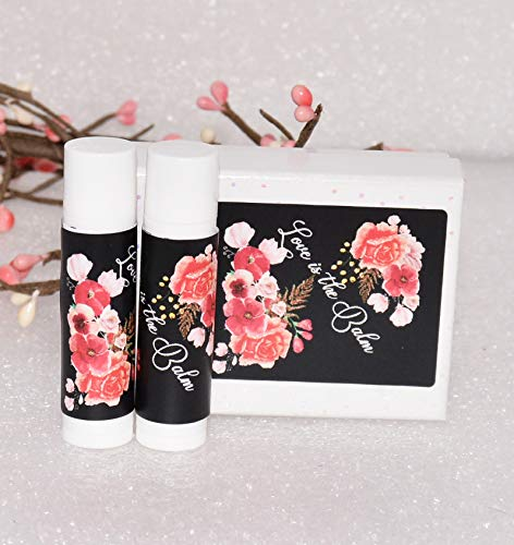 30 Wedding Lip Balm Labels Stickers, Bridal Shower Balm Stickers Wrappers