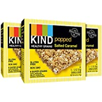 3 Pack KIND Healthy Grains Bars, Popped Salted Caramel 1.2 oz