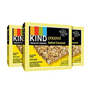 KIND Healthy Grains Popped Salted Caramel Bars, 15 Count
