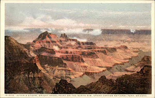 After a Storm, Bright Angel Point on the North Rim Grand Canyon National Park, Arizona Original Vintage Postcard