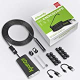 Wireless Endoscope Camera - WiFi Borescope Inspection - 2.0MP HD Flexible Snake Camera - Waterproof Endoscopic Camera for iPhone, Android, iOS, iPad, Samsung, Tablet - Lizard Cam with Bright Light