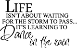 #1 Life isn't about waiting for the storm to pass It's learning to dance in the rain wall art