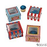 Cardboard Big Top Cupcake Boxes (1 dz)