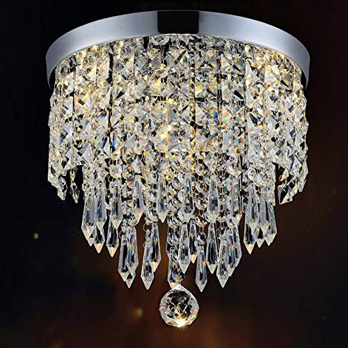 "Hile Lighting KU300074 Modern Chandelier Crystal Ball Fixture Pendant Ceiling Lamp H10.43"" X W8.66"", 1 Light"