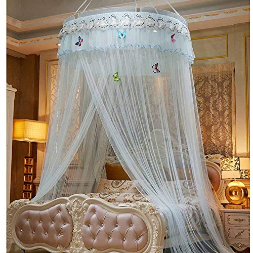 POPPAP Bed Canopy Mesh Curtains Bedroom Decor Dream Tent Ceiling Hanging Canopy Tent Jade Color(Little - Jade Hanger