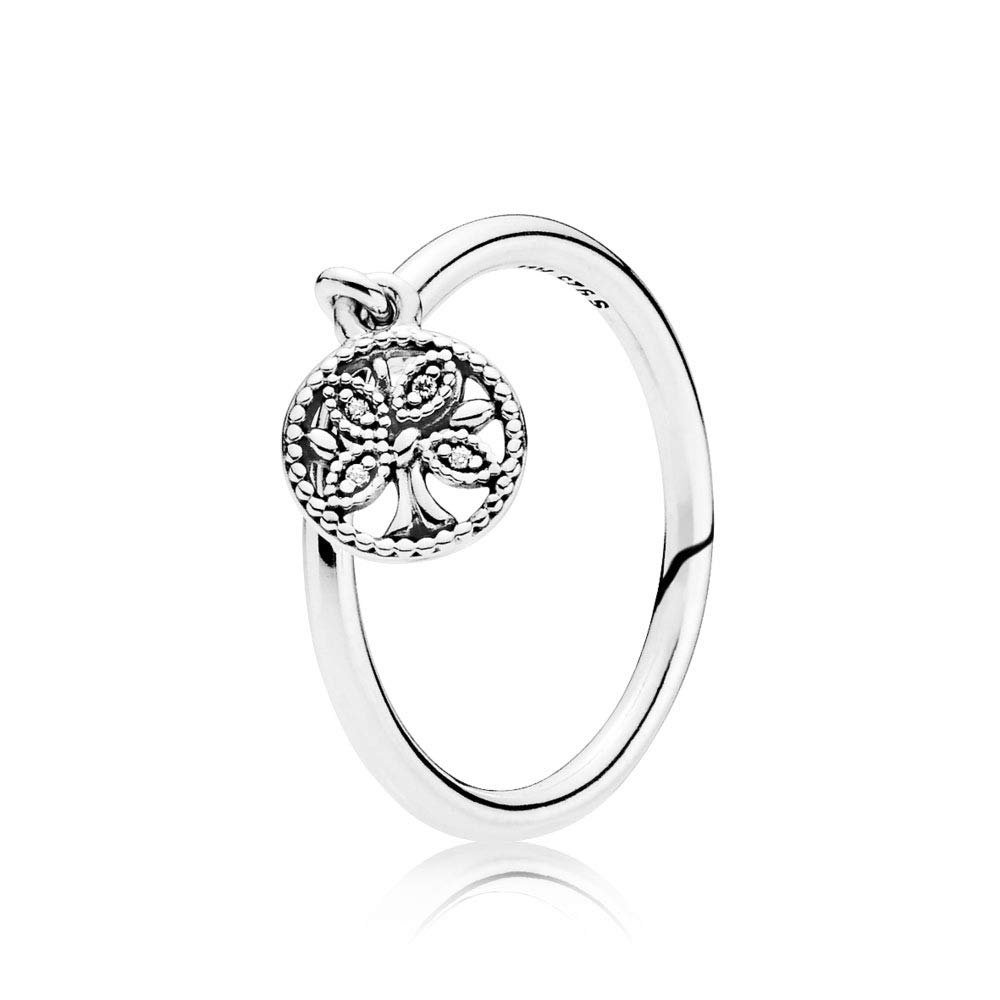 PANDORA Tree of Life 925 Sterling Silver Ring, Size: EUR-48, US-4.5-197782CZ-48