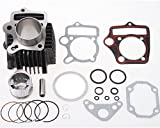 Mx-M 52mm Cylinder Body with Head Gaskets Pistons Kit Set for 110cc ATV Quad Dirt Pit Bike Go Kart