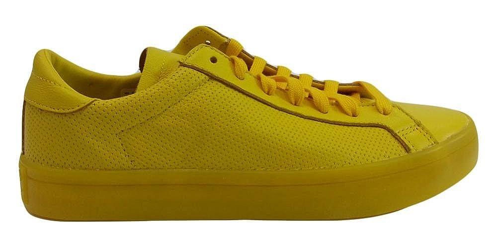 best service ce105 359b1 Amazon.com  Adidas Mens Court Vantage Adicolor Shoes S80254 Yellow US 13   Fashion Sneakers