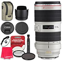 Canon EF 70–200mm f/2.8L IS II USM Lens with Elite Optics Commander Pro HD Series Ultra-Violet Protector UV Filter & Circular Polarizer CPL Multi-Coated Filter - International Version