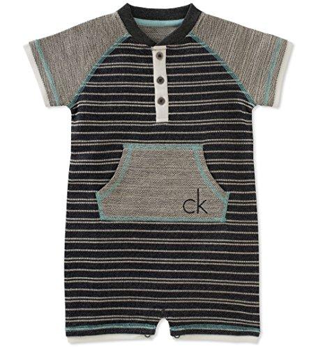 Calvin Klein Baby Boys Romper, Brown, 3-6 Months by Calvin Klein