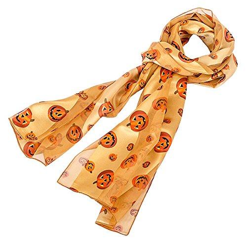 Pumpkin Pattern Scarf for Halloween or Fall in Orange ()