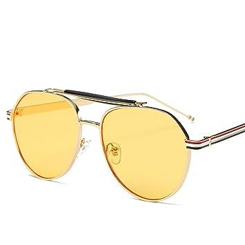 Wkaijc Retro Rundes Gesicht Sonnenbrille Mode Persönlichkeit Bequem Elegant Männer Und Frauen Sonnenbrillen ,D
