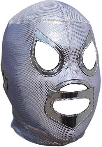 Deportes Martinez El Santo Professional Lucha Libre Mask Adult Luchador Mask Silver by Deportes Martinez