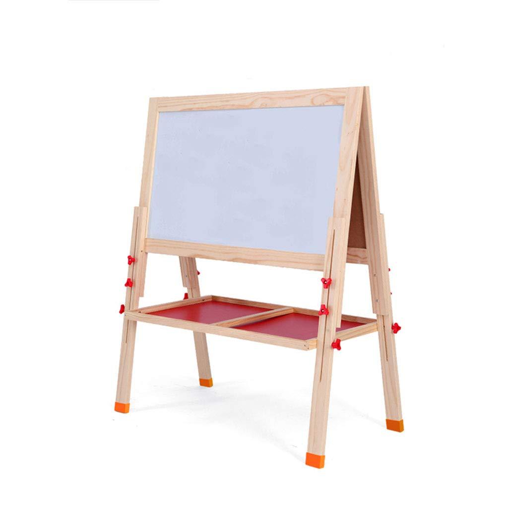 D_HOME Grande Tavolo da Disegno per Bambini cavalletto per Bambini Piccolo Tipo di Lavagna pensile insegnamento Lavagna (86  51cm) (colore   colore del Legno)