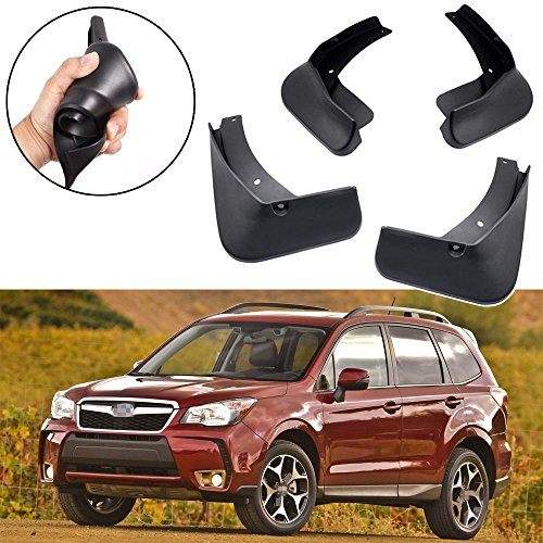 (SPEEDLONG 4Pcs Car Mud Flaps Splash Guard Fender Mudguard for Subaru Forester 2014-2018 15 16 17)