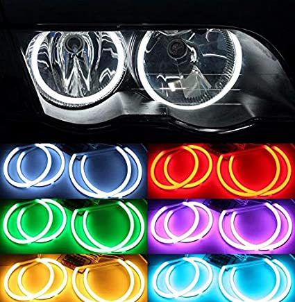 Dinax(TM Kit Cotton RGB LED Angel Eyes Compatible con BMW E46 ...