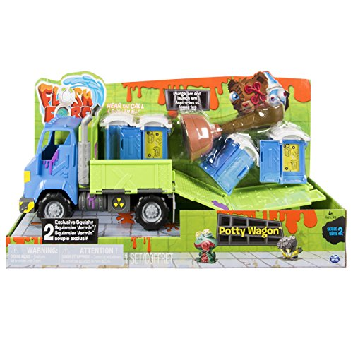Flush Force - Series 2 Potty Wagon, with Gross Collectible Figures for Kids Ages 4 and Up (Colors/Styles May Vary)