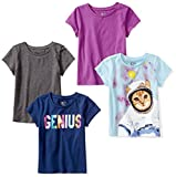 Spotted Zebra Toddler Girls' 4-Pack Short-Sleeve T-Shirts, Space, 4T: more info