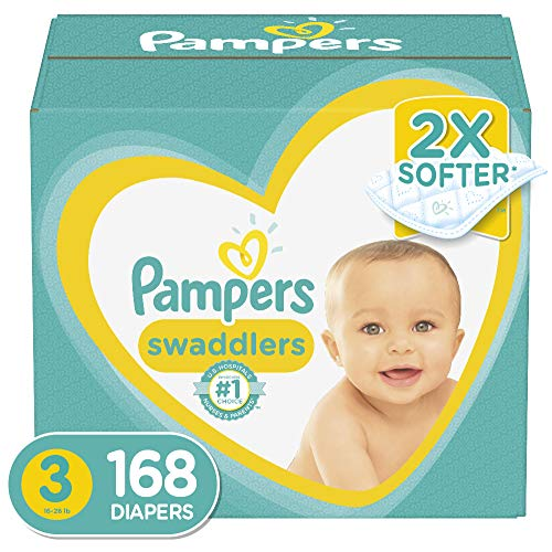 Diapers Size 3, 168 Count – Pampers Swaddlers Disposable Baby Diapers, ONE MONTH SUPPLY