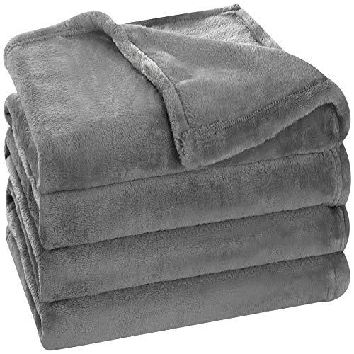 Utopia Bedding Fleece Blanket Queen Size Grey Luxury Bed Blanket Fuzzy Soft Blanket Microfiber