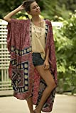 Women Kimono, Oversized Long Comfy Kimono, Beach Cover Up, Bohemian Festival Women Wear, Summer Boho Unique Trendy Printed Kimono Jacket