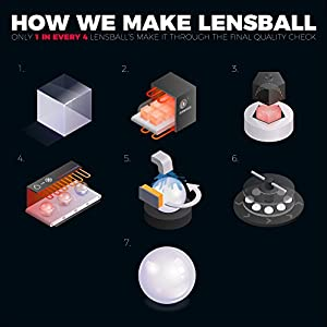 Lensball Pro (80mm), K9 Crystal Ball with Microfiber Pouch, Photography Accessory