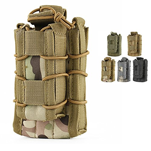 Double Mag pouch, Hoanan Tactical Molle Magazine Pouch Open-Top Single Rifle Pistol Mag Pouch Cartridge Clip Pouch Hunting Bag