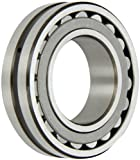 SKF 22210 E Explorer Spherical Roller Bearing, Straight Bore, Standard Tolerance, Steel Cage, Normal Clearance, Metric, 50mm Bore, 90mm OD, 23mm Width, 9500rpm Maximum Rotational Speed, 24280lbf Static Load Capacity, 23380lbf Dynamic Load Capacity