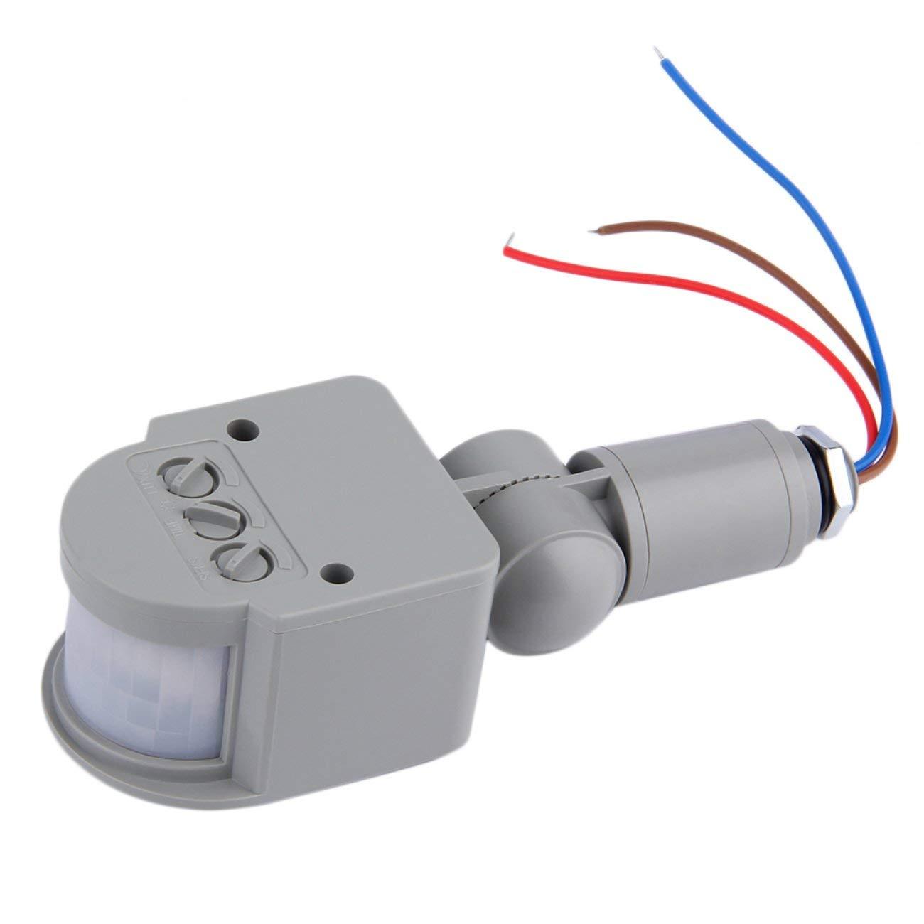 Interruptor infrarrojo automático al Aire Libre del Sensor de Movimiento de la CA 220V PIR para la luz del LED: Amazon.es: Electrónica