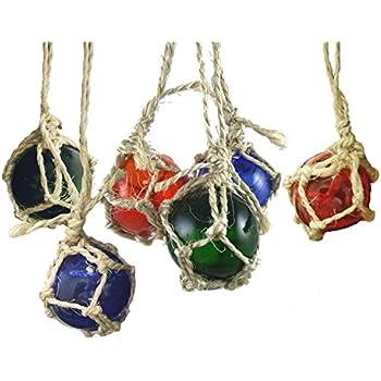 Amazon.com: Japanese Glass Float Buoys Christmas Ornaments Set of ...