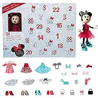 Disney Minnie Mouse Collectible Fashion Doll Holiday Advent Calendar [Amazon Exclusive]