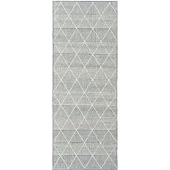 Ottomanson Jardin Collection Contemporary Trellis Design Indoor/Outdoor  Jute Backing Synthetic Sisal Runner Rug,