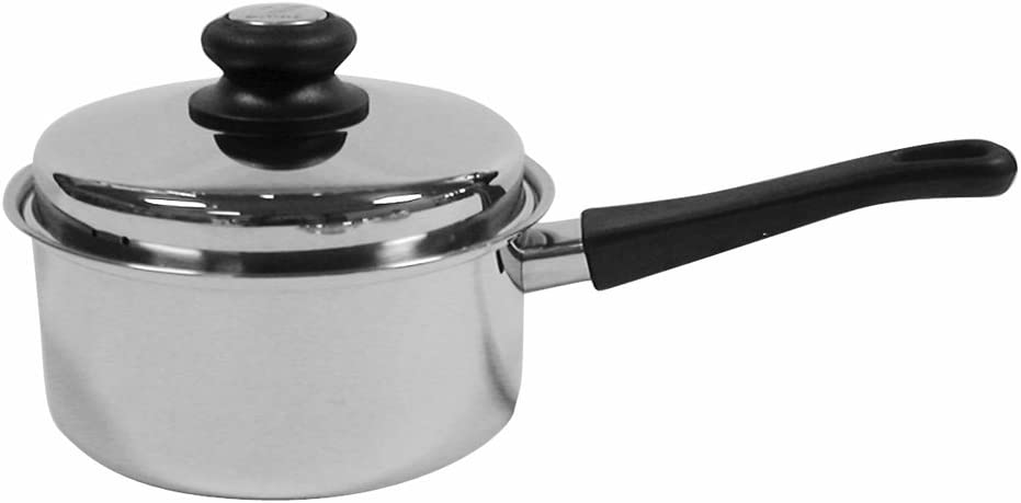 Tuxton Home Reno 12 Quart Stockpot Stainless Steel, PFTE PFOA Free, Freezer to Oven Safe, Induction Compatible