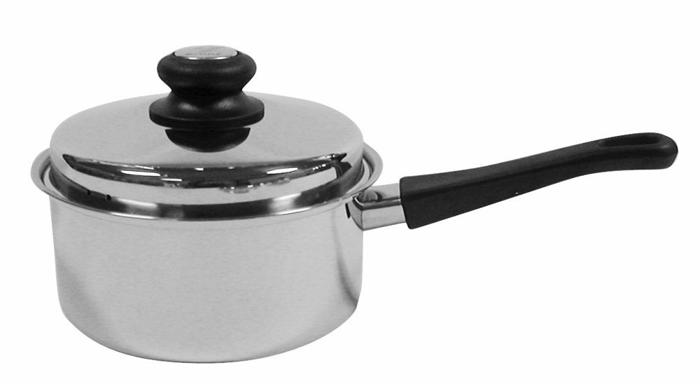 Tuxton Home Reno 2 Quart Covered Saucepan; Stainless Steel, PFTE & PFOA Free, Freezer to Oven Safe, Induction Compatible