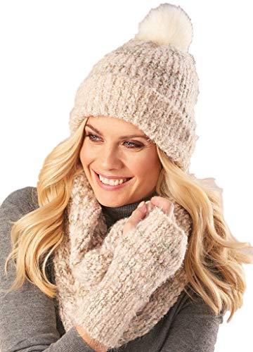 popcorn knit scarf - 1