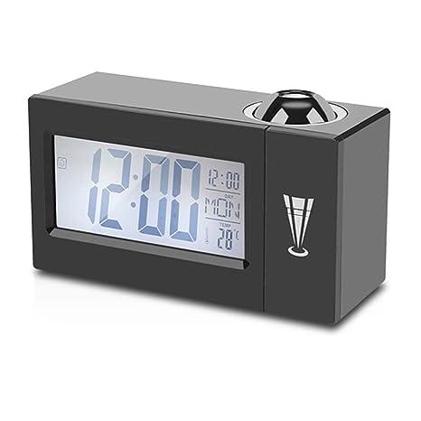 Home, Furniture & DIY Digital LCD Alarm Clock  Wake Up Light Table Clock Time Temperature Display Clocks