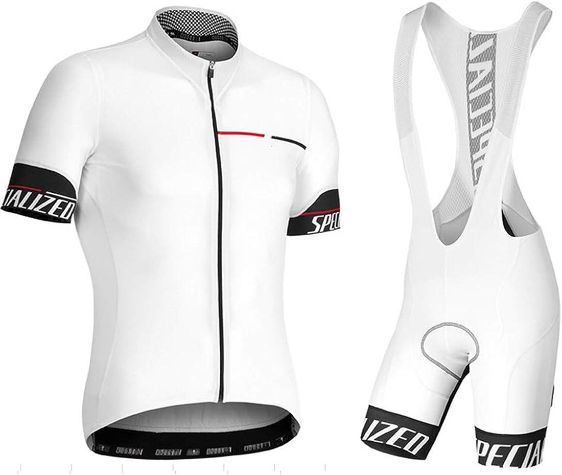 HFJLL Conjunto De Jersey De Ciclismo Conjunto De Manga Corta De Bicicleta Camisa Transpirable De Secado RáPido + Culotte Corto