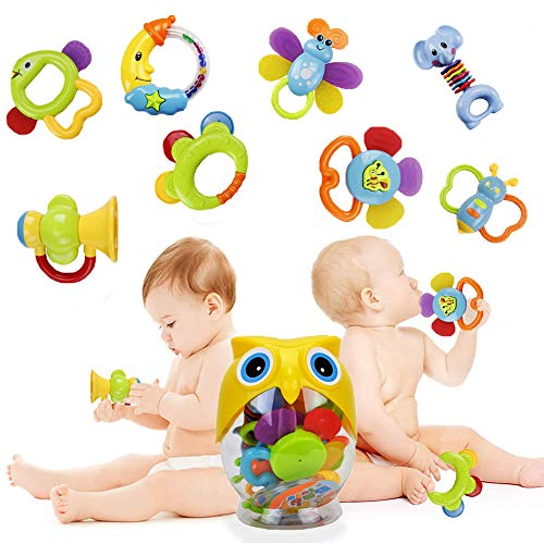Teether Rattle Set Baby Toy -...