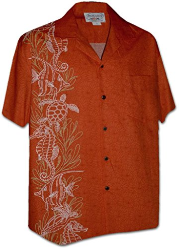 ocean-life-panel-pacific-legend-apparel-hawaiian-aloha-shirt-orange