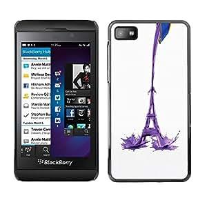 LECELL -- Funda protectora / Cubierta / Piel For Blackberry Z10 -- Eiffel Tower Milk Abstract --