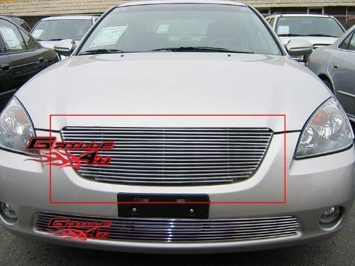 APS N85406A Polished Aluminum Billet Grille Replacement for select Nissan Altima -