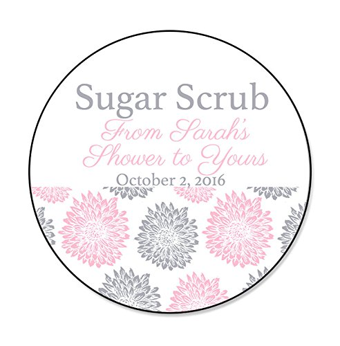 custom sugar scrub baby shower bridal shower labels from my shower to yours labels