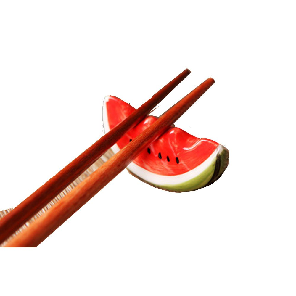 Mr.Dakai Ceramic Ware Cute Cat Chopsticks Stand Rest Rack Porcelain Spoon Fork Holder Home Decor, 6 pcs (Mix and Match)