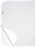 Kushies Deluxe Terry Change Pad, White with Mocha Polka Dots