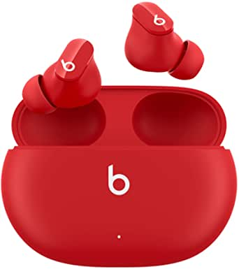 New Beats Studio Buds – True Wireless Noise Cancelling Earbuds – Compatible with Apple & Android, Built-in Microphone, IPX4 Rating, Sweat Resistant Earphones, Class 1 Bluetooth Headphones - Beats Red
