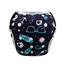 Babygoal Baby Swim diapers, Babygoal Reuseable Washable and Adjustable for Swimming, Outdoor Activities and Daily Use, Fit Babies 0-2 Years SW22-CA