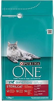 PURINA ONE Bifensis Pienso para Gatos Esterilizados Buey y Trigo 6 ...