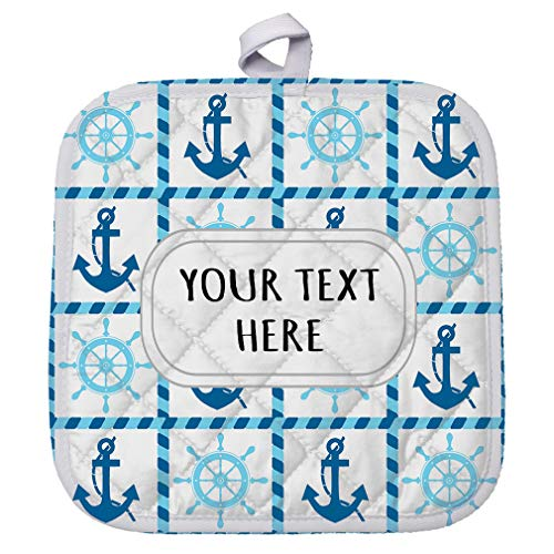 Style In Print Polyester Pot Holder Custom Anchors Steering Wheels Pattern Adults Trivets